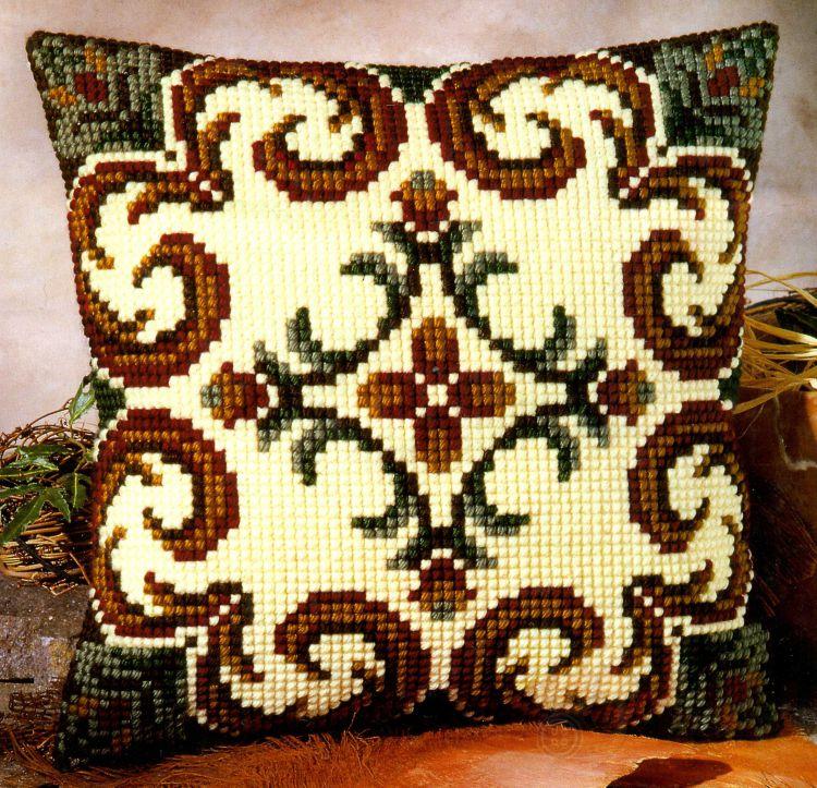 подушка для зала крестиком