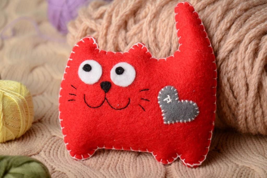 подушка кот фото декора