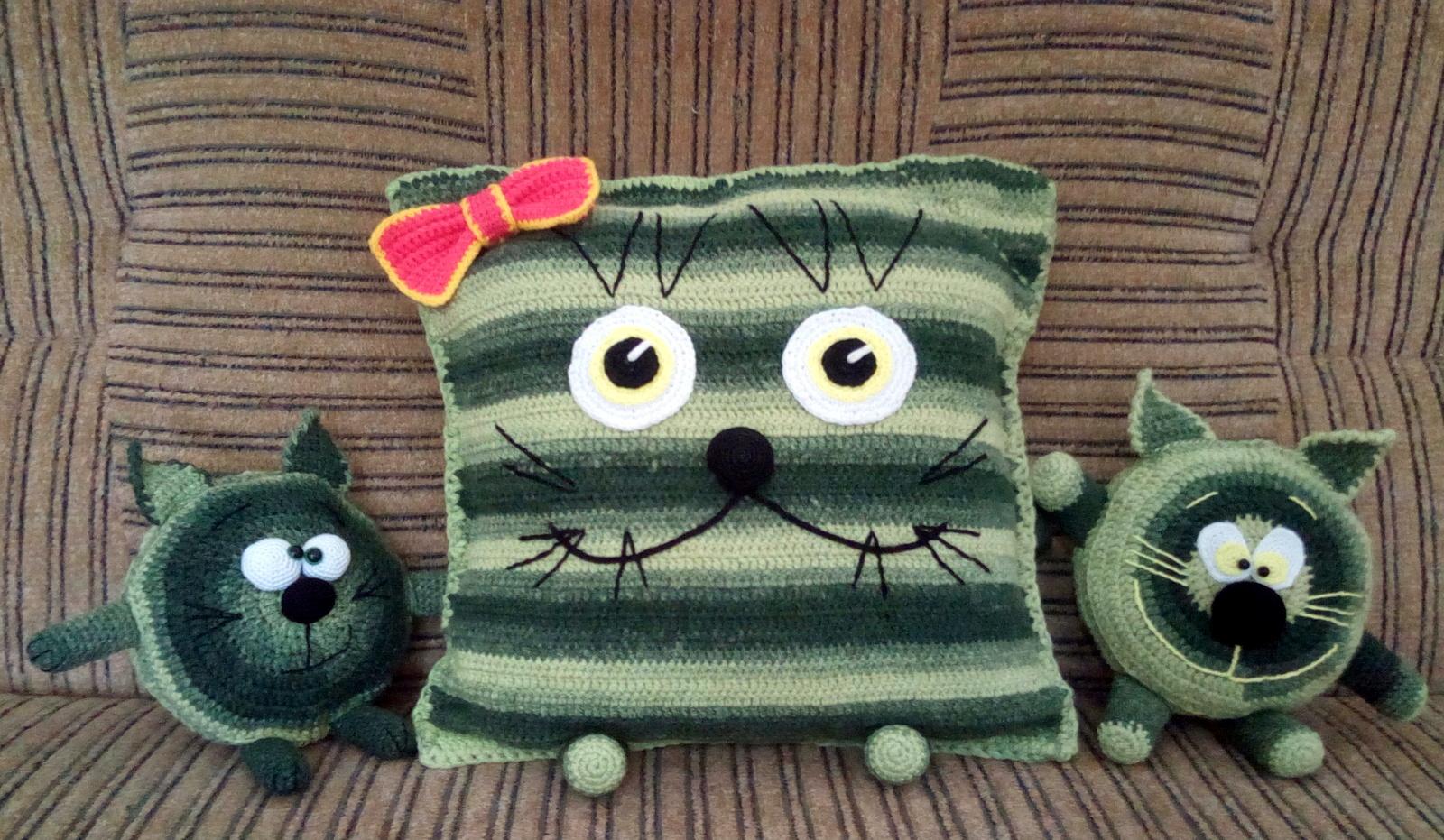 подушка кот фото идеи