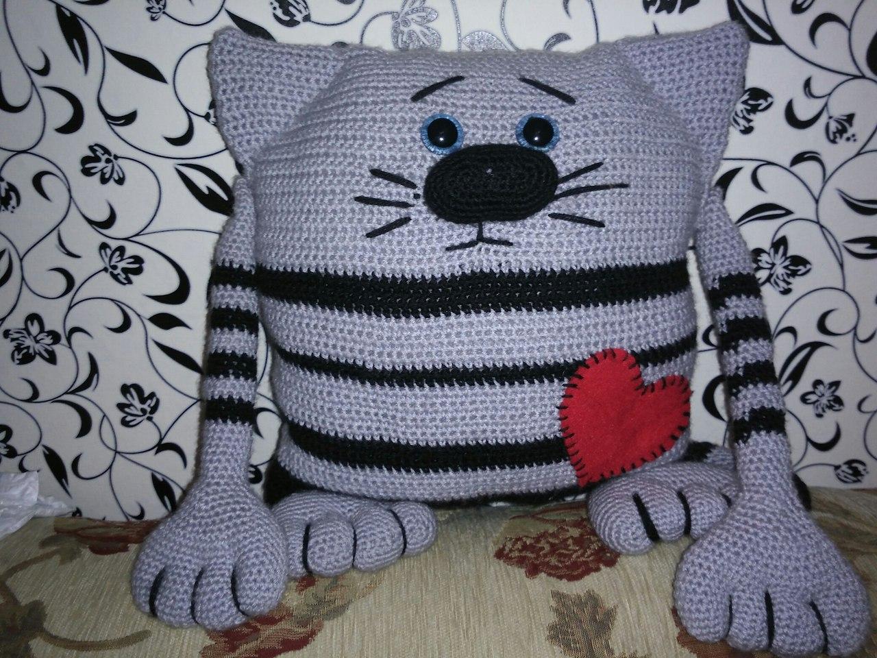 подушка кот идеи фото