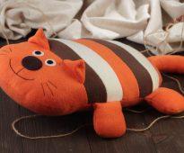 подушка кот оформление идеи