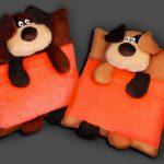 подушка собака оформление фото