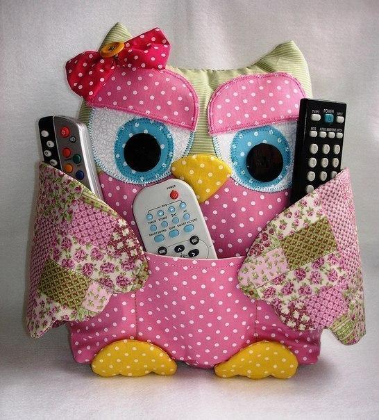 подушка сова для пультов идеи