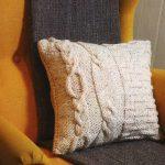 подушка вязаная фото интерьера