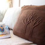 подушка вязаная фото видов