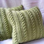 подушка вязаная идеи декор