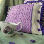 подушка вязаная виды дизайн