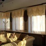 короткие шторы со сборками