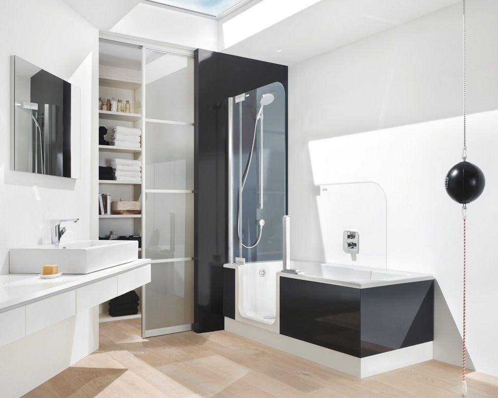 раздвижные шторки для ванной комнаты