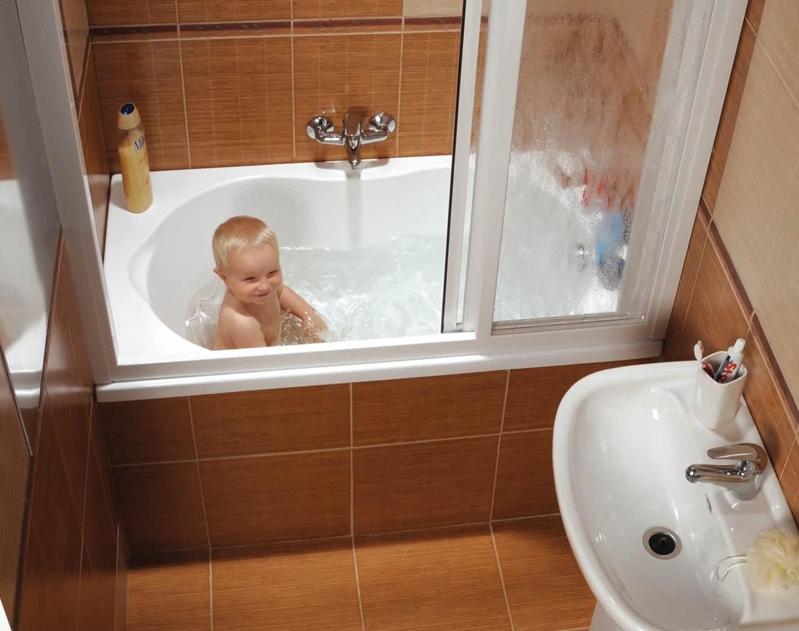 раздвижные шторки для ванной варианты