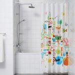 текстильные шторы для ванной интерьер идеи