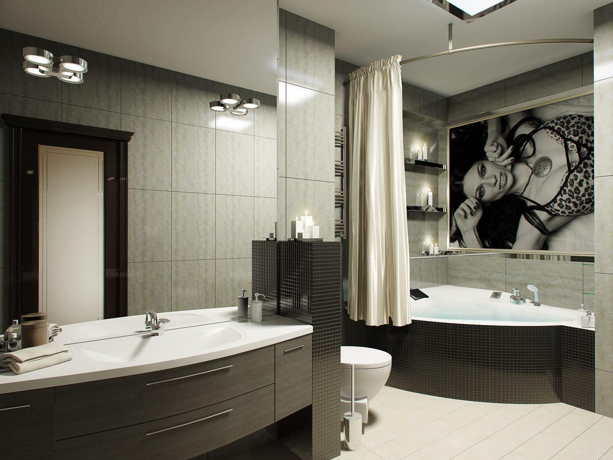 шторки для ванной комнаты идеи