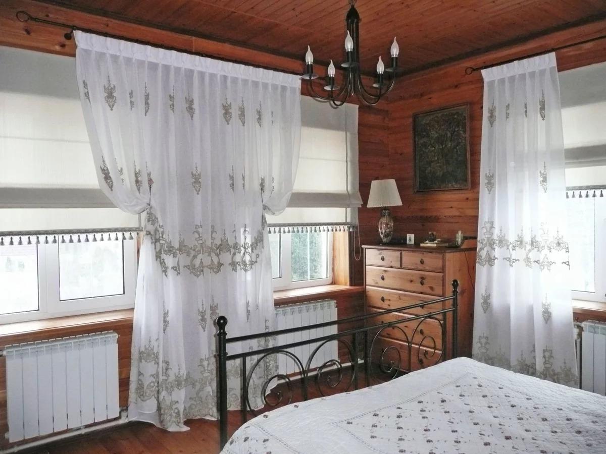 шторы для дачи в спальне