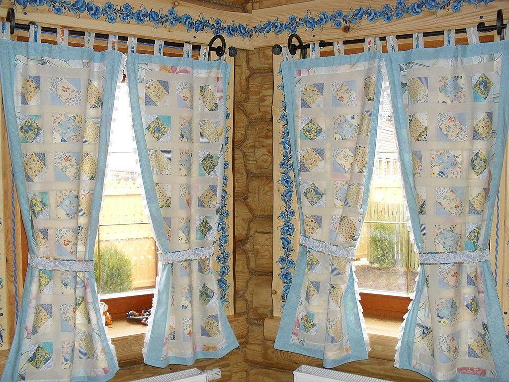 шторы для дачи лоскутные