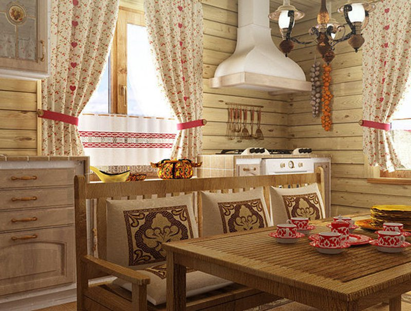 шторы для дачи русский стиль