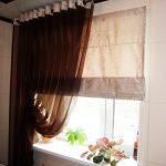 шторы для кухни на люверсах идеи фото