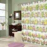 текстильные шторы для ванной идеи вариантов
