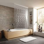 текстильные шторы для ванной фото видов