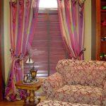 шторы и тюль без карниза