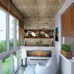 шторы на балкон интерьер
