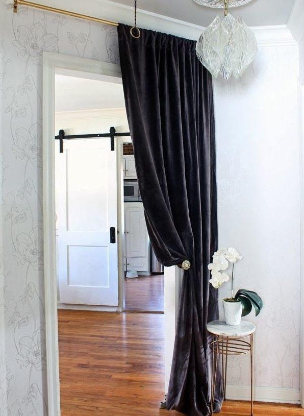 шторы на дверной проем обзор фото