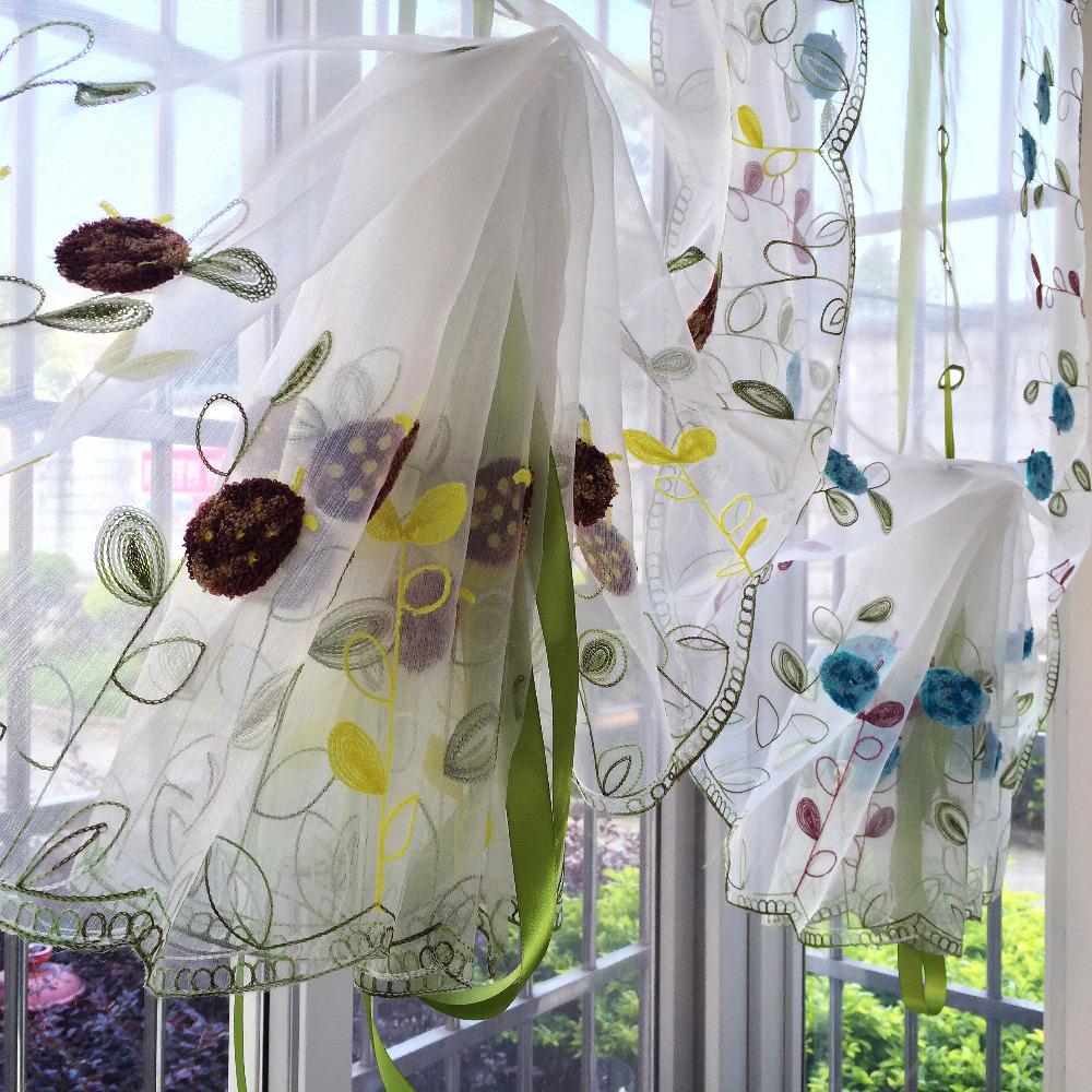 как сшить шторы на кухню из органзы