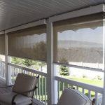 рулонные шторы на веранде