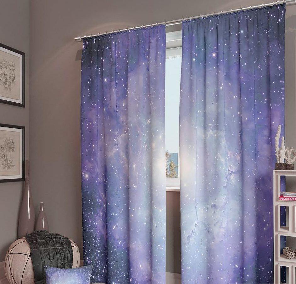 шторы со звездами фото оформление
