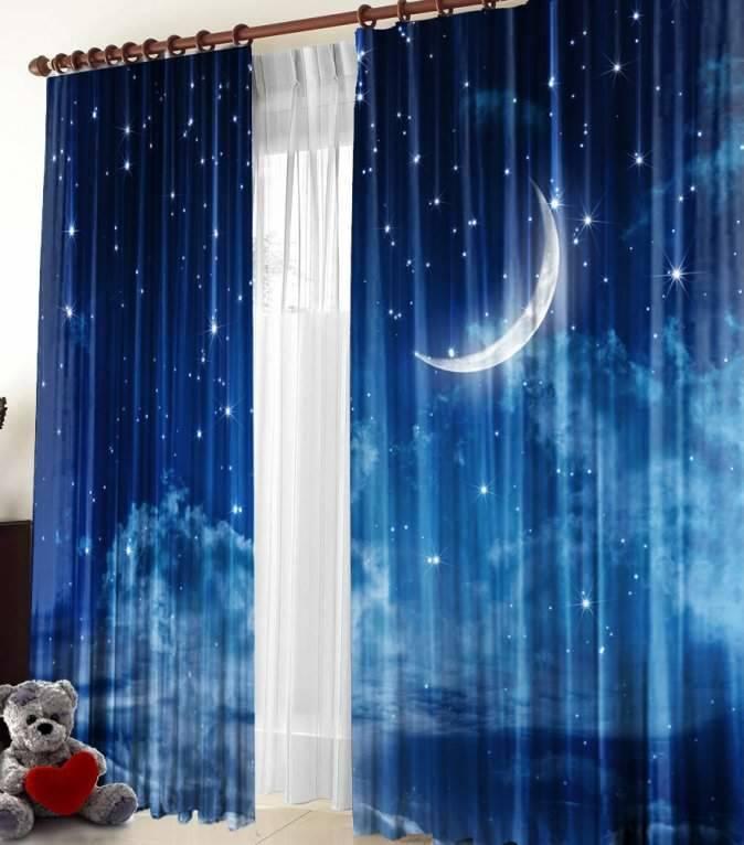 шторы со звездами интерьер идеи