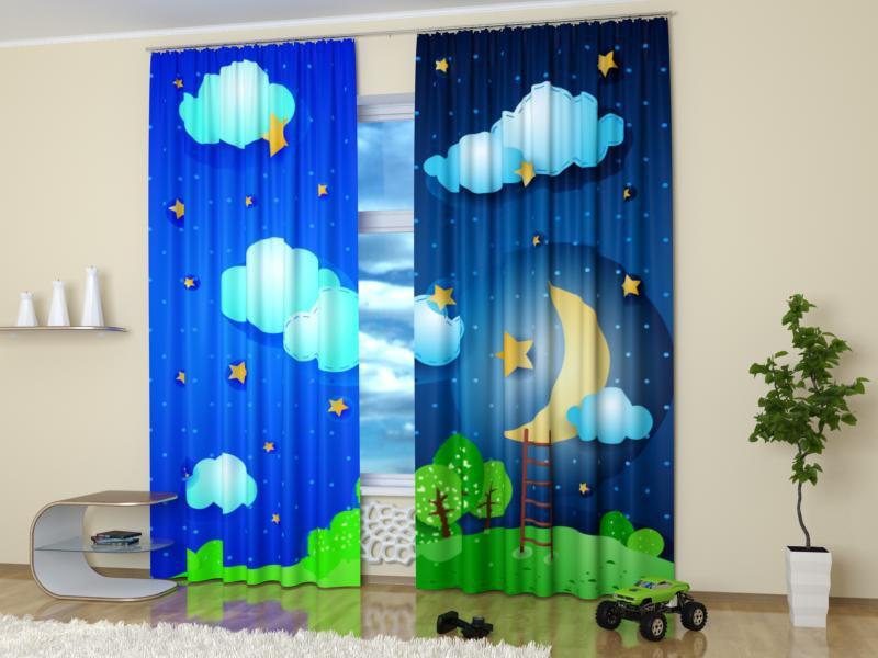 шторы со звездами в детскую