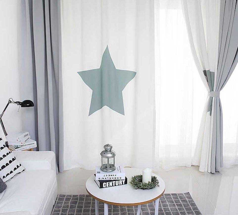 шторы со звездами идеи фото