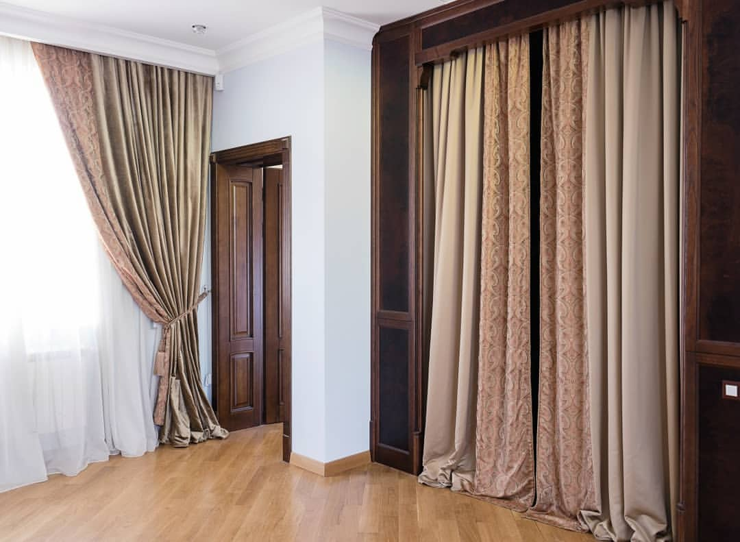 шторы в гардеробную вместо дверей