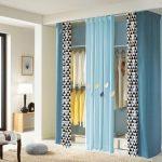 шторы в гардеробную вместо дверей оформление идеи