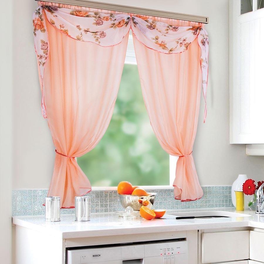 как сшить шторы на кухню из вуали