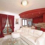 современные шторы в гостиной фото дизайна