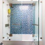 стеклянная шторка для ванной дизайн