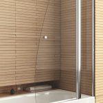 стеклянная шторка для ванной идеи видов