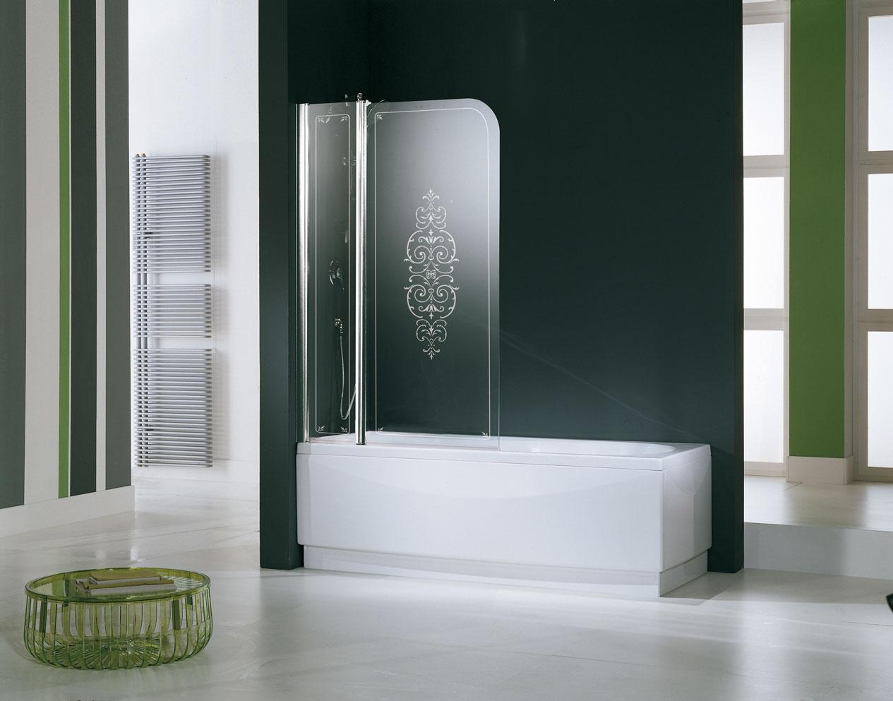 стеклянная шторка в ванной комнате