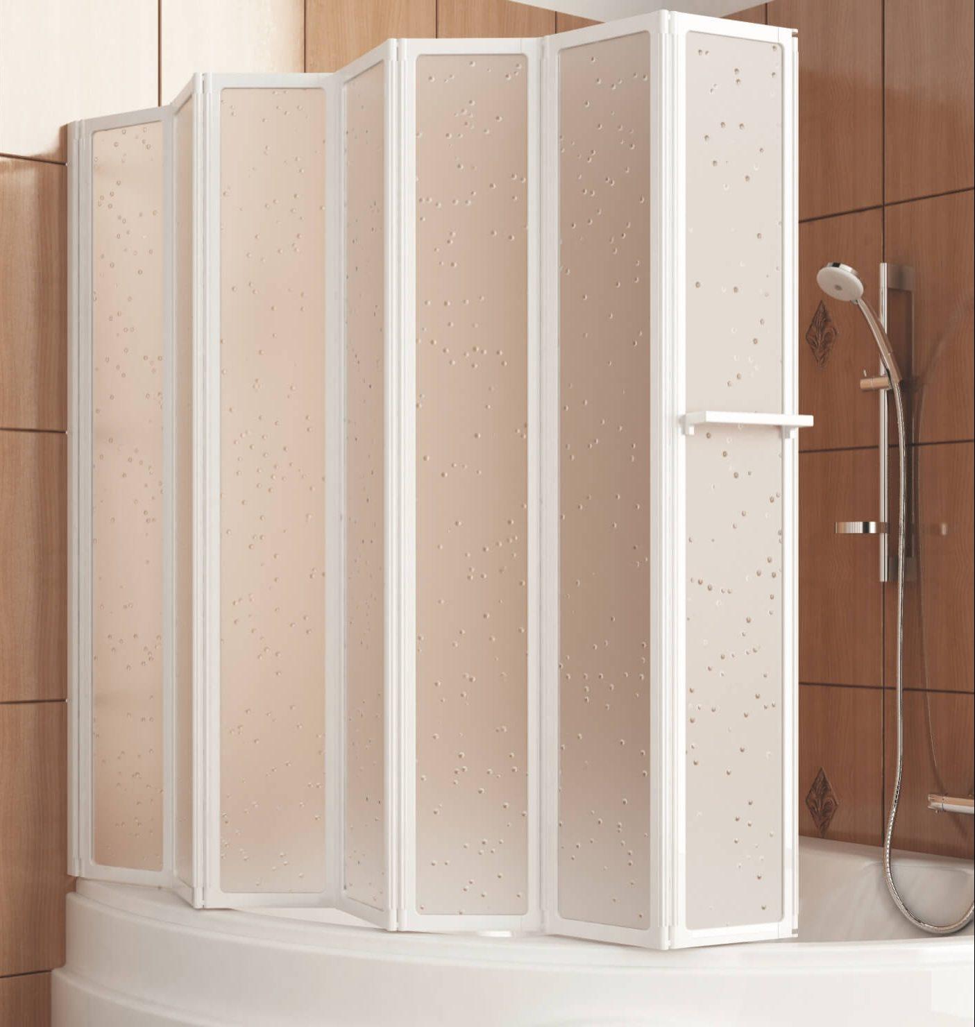 шторка для ванной складная
