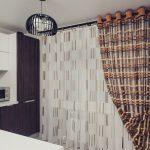 современный тюль на кухню