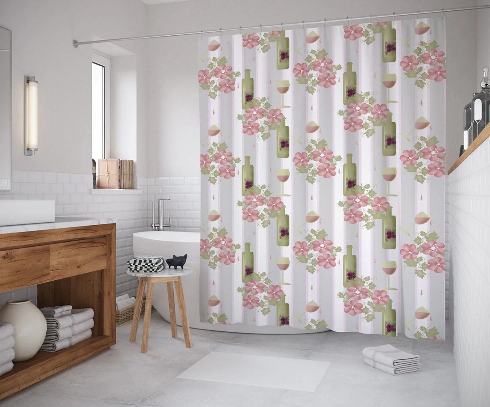 виниловая штора в ванной