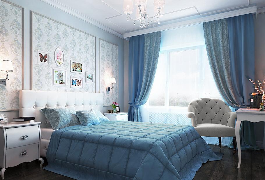 комплект из штор и покрывала для спальни идеи оформление