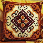 вышивка подушек крестиком