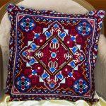 вышивка подушек крестиком оформление