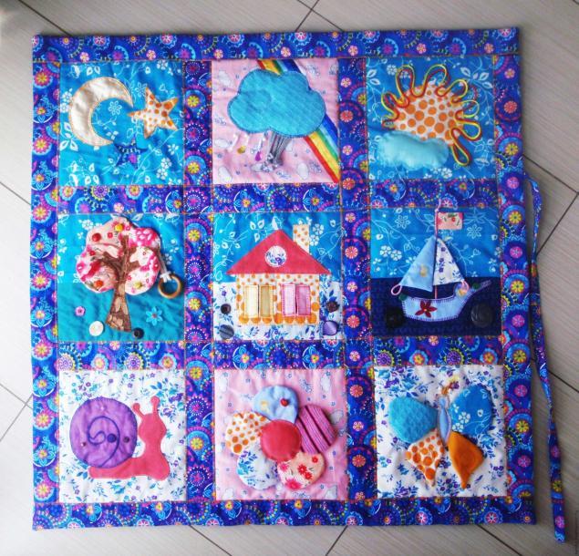 мягкий развивающий коврик для детей