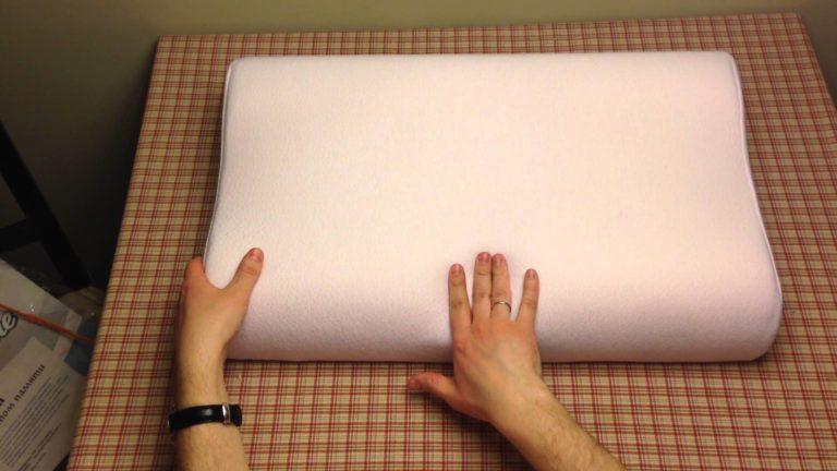 подушка с эффектом памяти ортопедическая