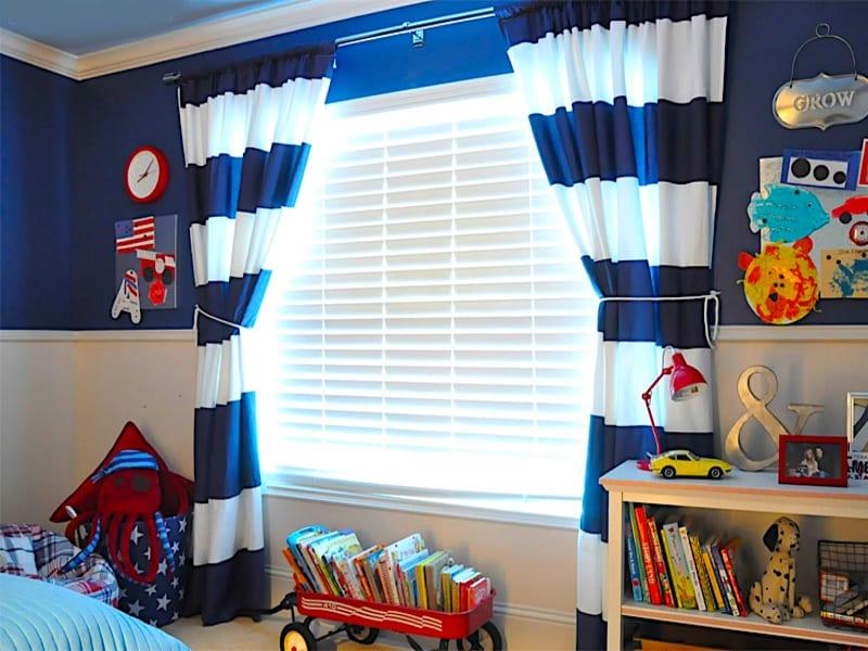 шторы в детскую для мальчика