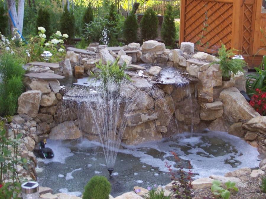 водопад своими руками дизайн фото