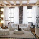 белые шторы в гостиной идеи дизайн