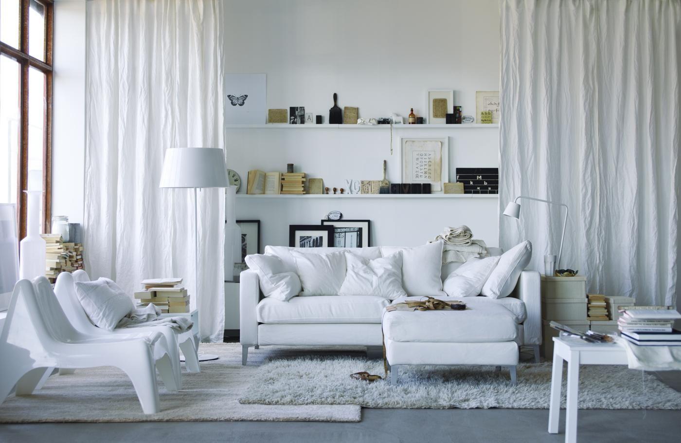 белые шторы в гостиной идеи вариантов